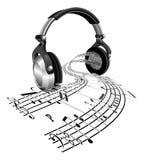 La música de hoja de los auriculares observa concepto Imágenes de archivo libres de regalías