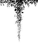 La música de la silueta observa el fondo Imagen de archivo libre de regalías