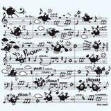La música de pájaros Foto de archivo