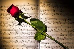 La música del amor Imagen de archivo
