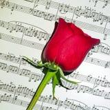 La música del amor Fotos de archivo libres de regalías