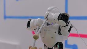 La música del juego del robot almacen de video
