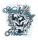 La música es mi necesidad stock de ilustración