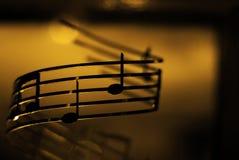 La música está prendido Imagen de archivo libre de regalías