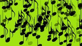 la música 4k observa el fondo, sonido de la melodía de la melodía del símbolo, sinfonía artística romántica almacen de video