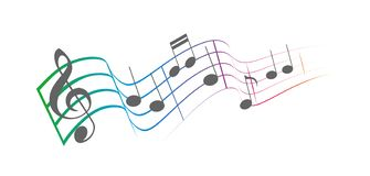 La música observa el colorfull imagen de archivo