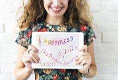 La música observa el entretenimiento Melody Listening Concept fotografía de archivo libre de regalías