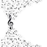 La música observa el fondo Imagen de archivo libre de regalías