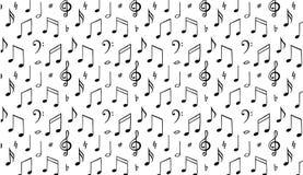 La música observa el fondo Símbolo de la melodía Llustration negro y del wite libre illustration