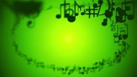La música observa espiral ilustración del vector
