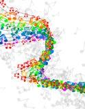 La música observa la bandera Imágenes de archivo libres de regalías