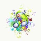 La música observa la ilustración stock de ilustración