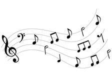 La música observa la oleada ilustración del vector