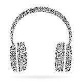 La música observa los auriculares ilustración del vector