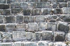 La maçonnerie de la grande pierre La pyramide de Kukulkan dans Chich Photographie stock