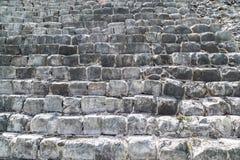 La maçonnerie de la grande pierre La pyramide de Kukulkan dans Chich Photo libre de droits