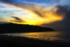 La mañana de la salida del sol de la playa de Krut de la prohibición de la playa Imagen de archivo