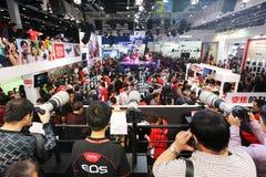 2014 la 17ma maquinaria fotográfica internacional del equipo de la proyección de imagen de China Pekín y de la expo de la tecnolog Imágenes de archivo libres de regalías