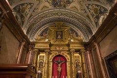 La Macarena church, Seville, andalusia, spain. A view in SEVILLE, ANDALUSIA, SPAIN, MAY, 22, 2017 : interiors  details of  La Macarena church may 22, 2017 in Stock Image