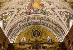 La Macarena church, Seville, andalusia, spain. A view in SEVILLE, ANDALUSIA, SPAIN, MAY, 22, 2017 : interiors  details of  La Macarena church may 22, 2017 in Stock Photos