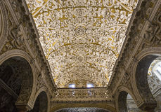 La Macarena church, Seville, andalusia, spain. A view in SEVILLE, ANDALUSIA, SPAIN, MAY, 22, 2017 : interiors  details of  La Macarena church may 22, 2017 in Royalty Free Stock Photos