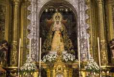 La Macarena church, Seville, andalusia, spain. A view in SEVILLE, ANDALUSIA, SPAIN, MAY, 22, 2017 : interiors  details of  La Macarena church may 22, 2017 in Royalty Free Stock Photography