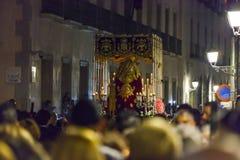 La Macarena, na parada da procissão da Semana Santa no Madri, Imagens de Stock