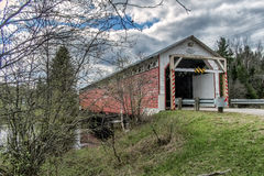 La Macaza covered bridge Stock Image
