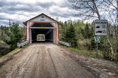 La Macaza covered bridge Stock Photography