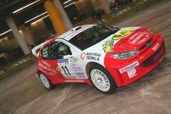 La macchina da corsa del wrc di Peugeot 206 Fotografia Stock