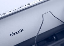 La macchina da scrivere pensa Fotografia Stock