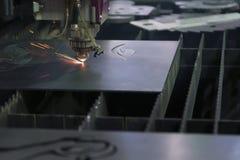 La macchina della taglierina del laser Immagine Stock