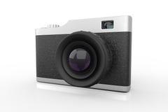 La macchina fotografica 3d della foto di stile della vecchia scuola rende Immagine Stock