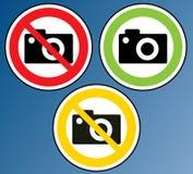 La macchina fotografica ha vietato Fotografia Stock