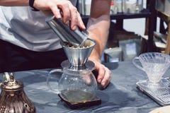 La macchinetta del caffè non è moderna Immagine Stock Libera da Diritti
