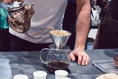La macchinetta del caffè non è moderna Fotografia Stock Libera da Diritti