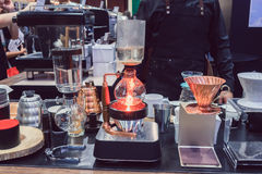 La macchinetta del caffè non è moderna Fotografia Stock