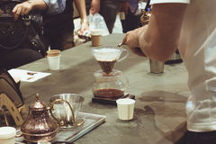 La macchinetta del caffè non è moderna Immagine Stock