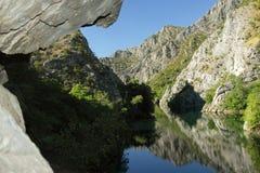 La Macedonia, canyon di Matka Fotografie Stock Libere da Diritti