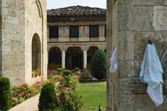 La Macedonia, Tetovo, moschea decorata Fotografia Stock Libera da Diritti