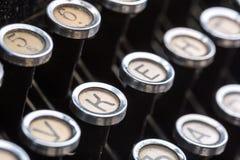 La machine à écrire de vintage verrouille l'image de plan rapproché Photos stock