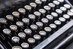 La machine à écrire de vintage verrouille l'image de plan rapproché Photographie stock