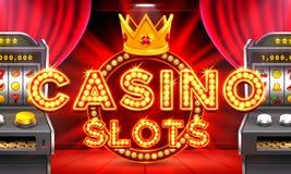 La machine à sous du casino 3d gagne le gros lot Photo stock