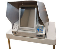 La machine à voter la plus neuve d'écran tactile Photographie stock libre de droits