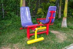 La machine d'exercice en parc public Photo stock