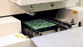 La machine extérieure de technologie de bâti place des éléments sur des cartes clips vidéos