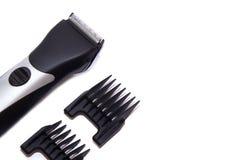 La machine pour une coiffure raseur-coiffeur Tondeuses d'isolement sur le fond blanc Images libres de droits