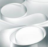 La macro blanca negra curvada torció las hojas del PA Fotografía de archivo libre de regalías