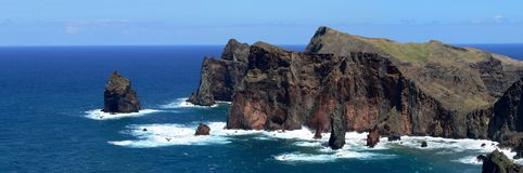La Madère - les roches de Ponta font le sao Lourenco Photos stock