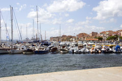 La Maddalena港口-撒丁岛 图库摄影